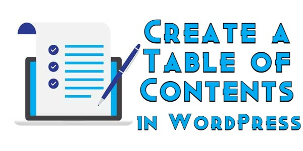 Create a Table of Contents in WordPress
