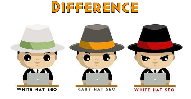Difference Black Hat SEO vs White Hat SEO vs gray hat seo (1)
